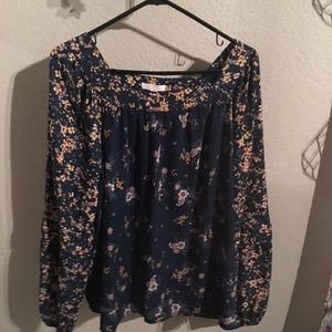 Lauren Conrad pretty fall colors blouse